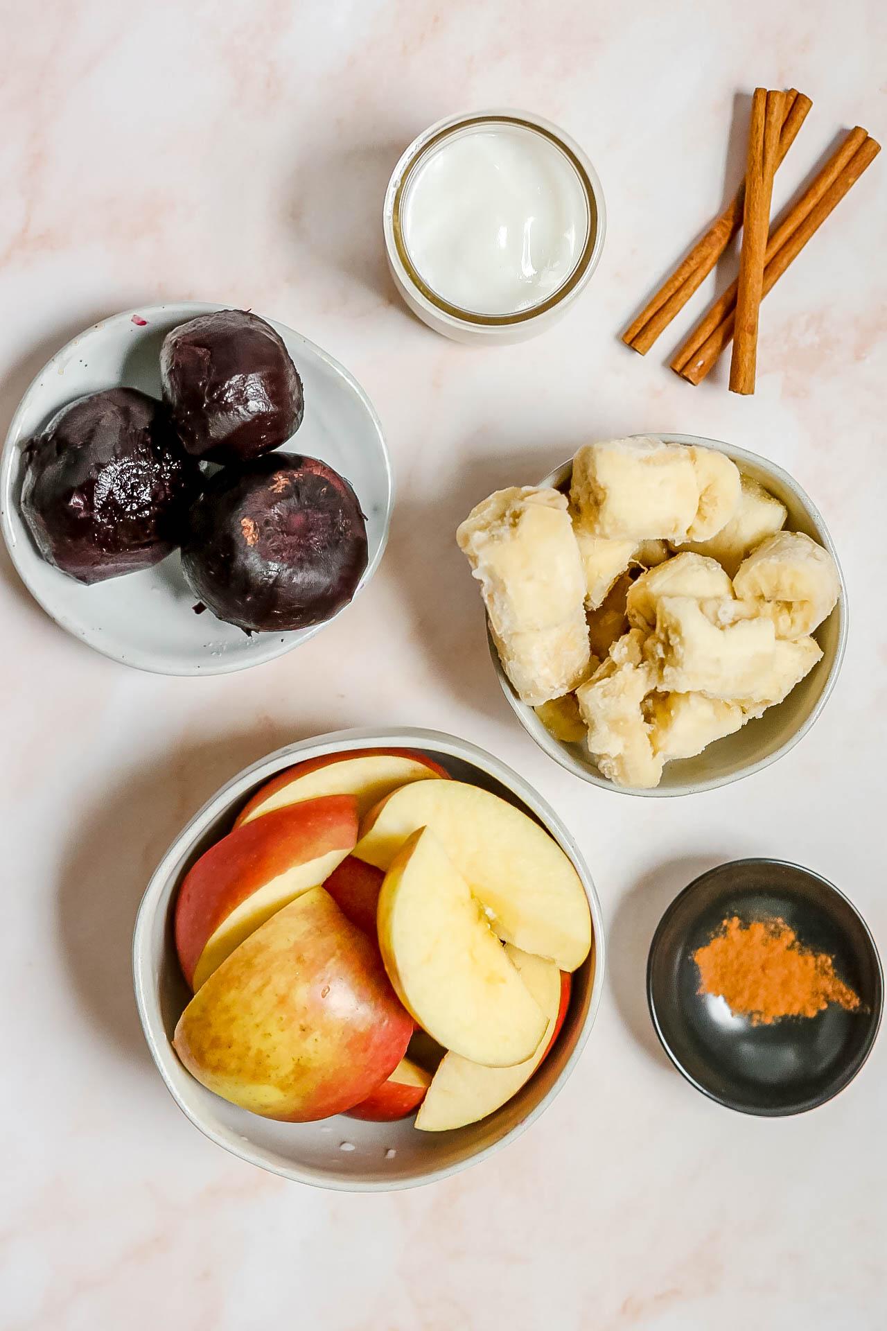 Roasted Beet Apple Smoothie Ingredients