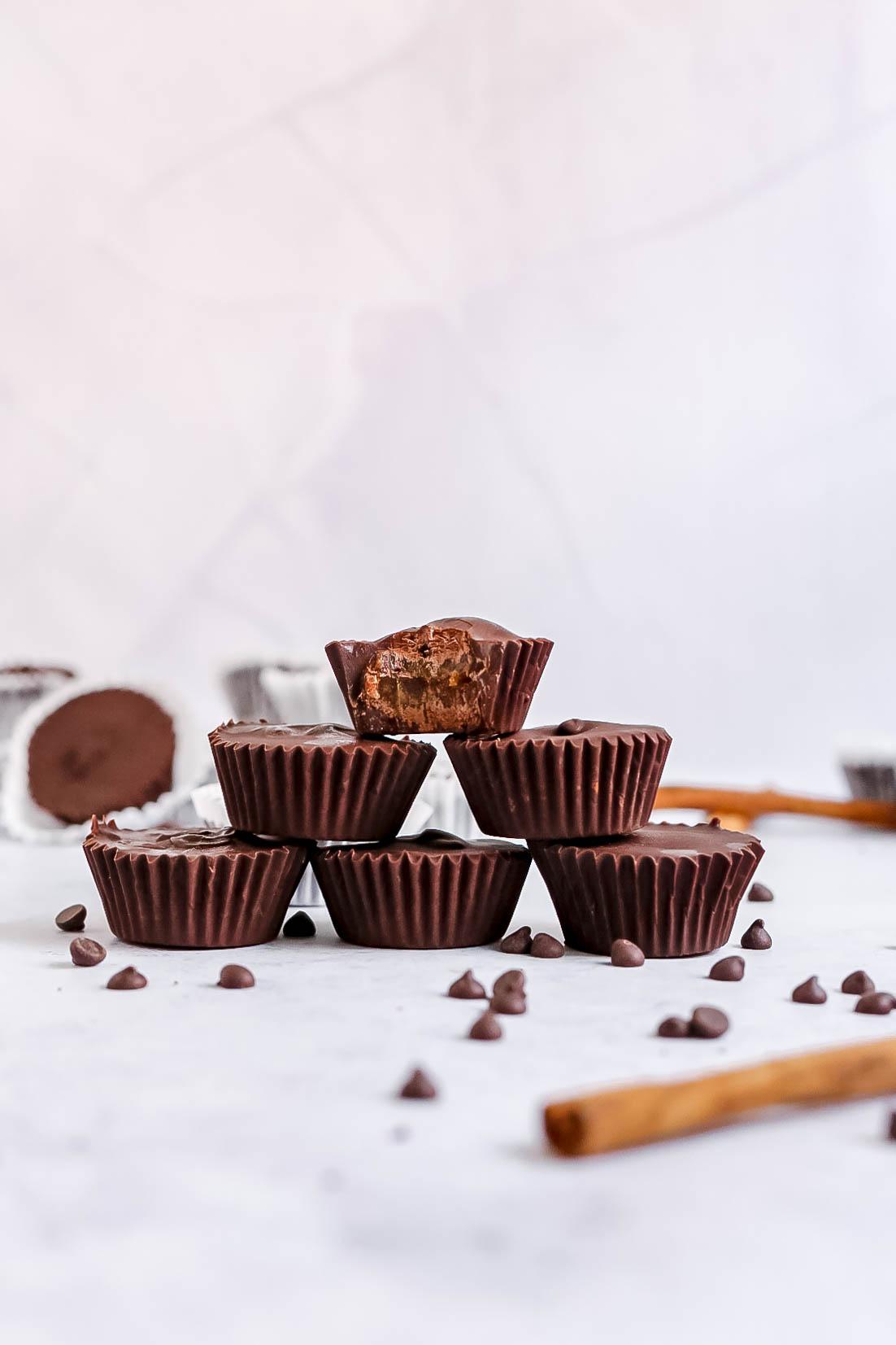 Plant-Based Pumpkin Spice Caramel Cups