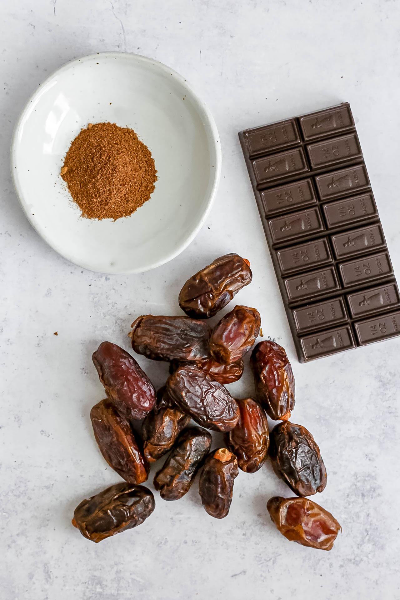 Plant-Based Pumpkin Spice Caramel Cups Ingredients