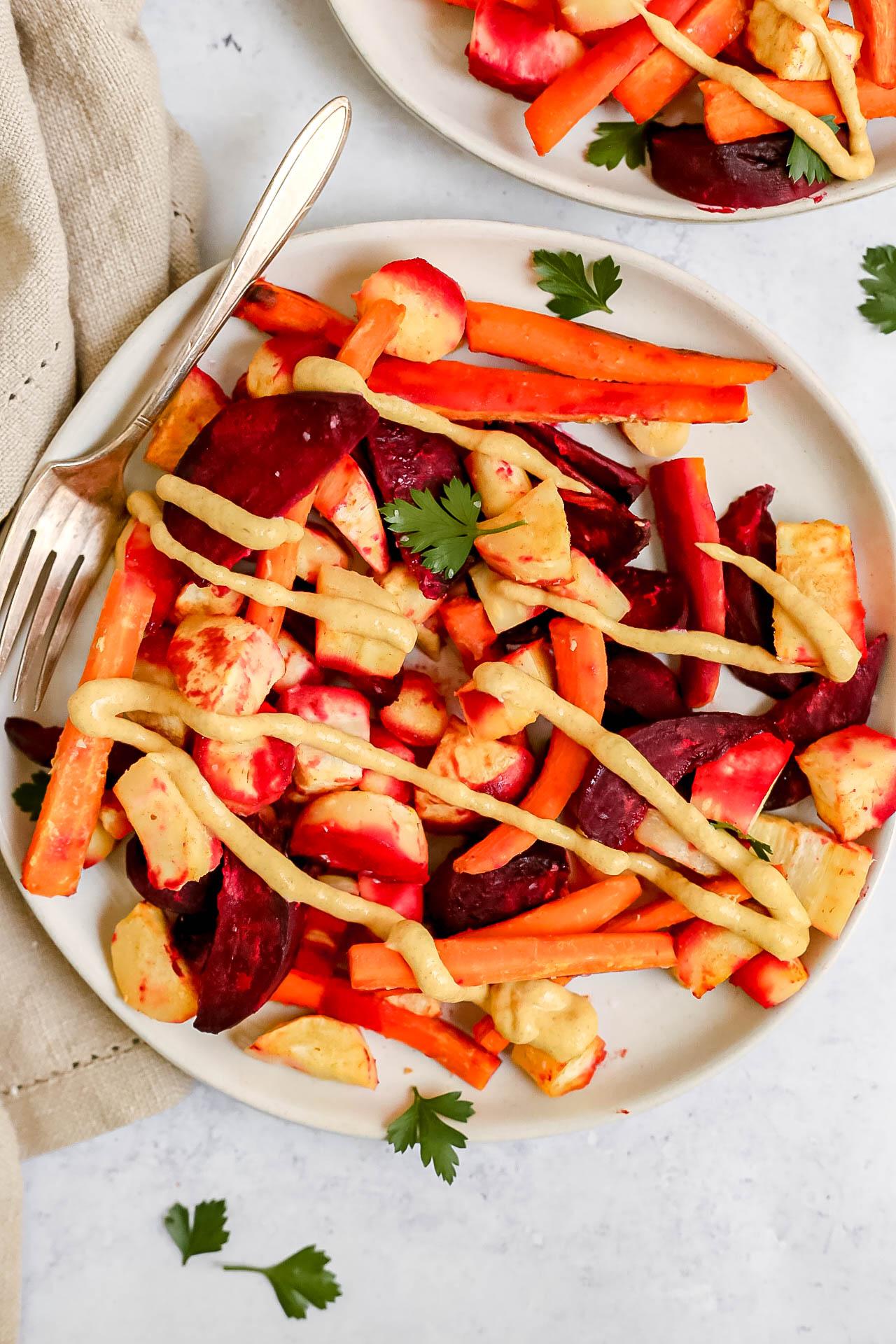 Dijon Roasted Root Vegetables