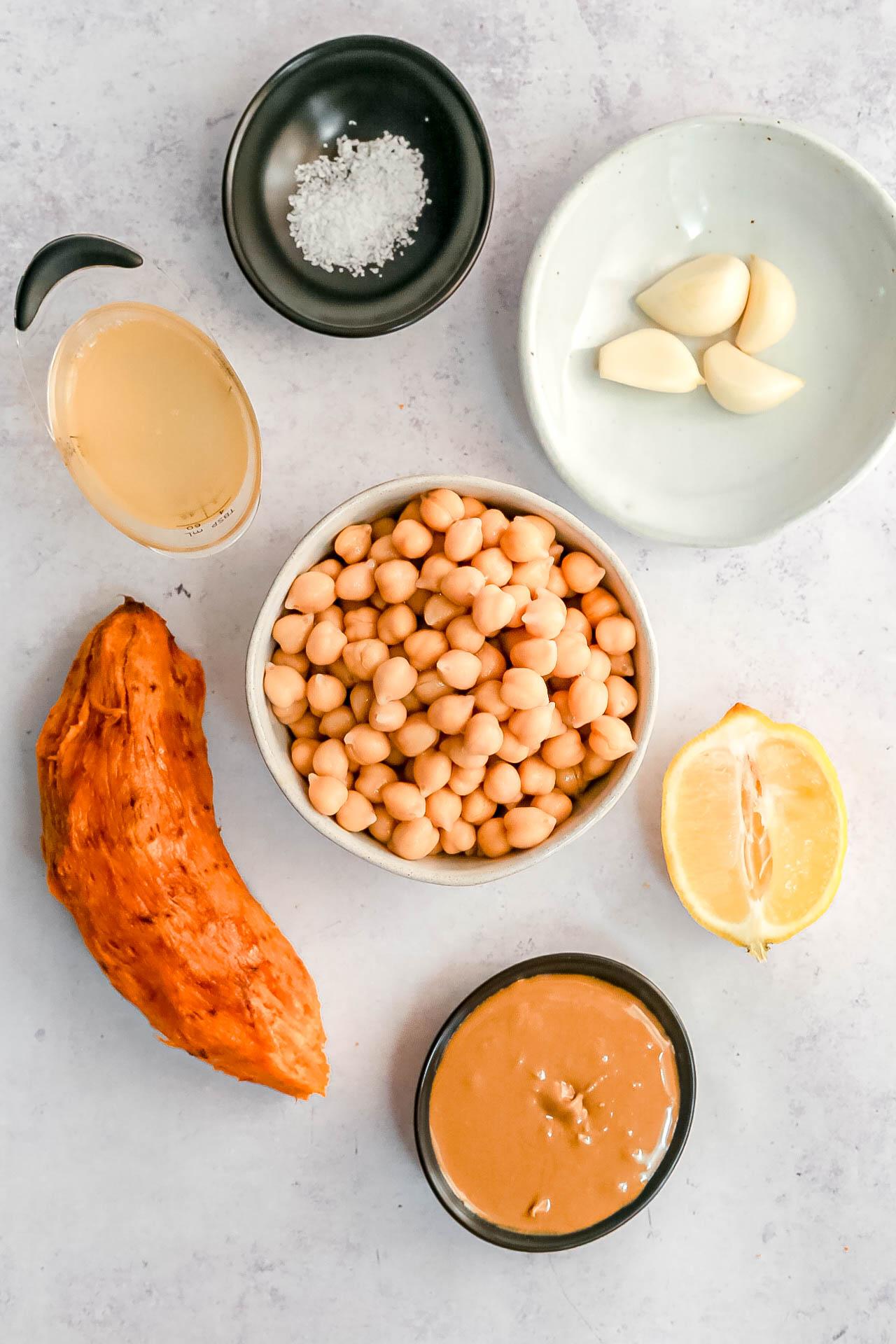 Sweet Potato Hummus Ingredients
