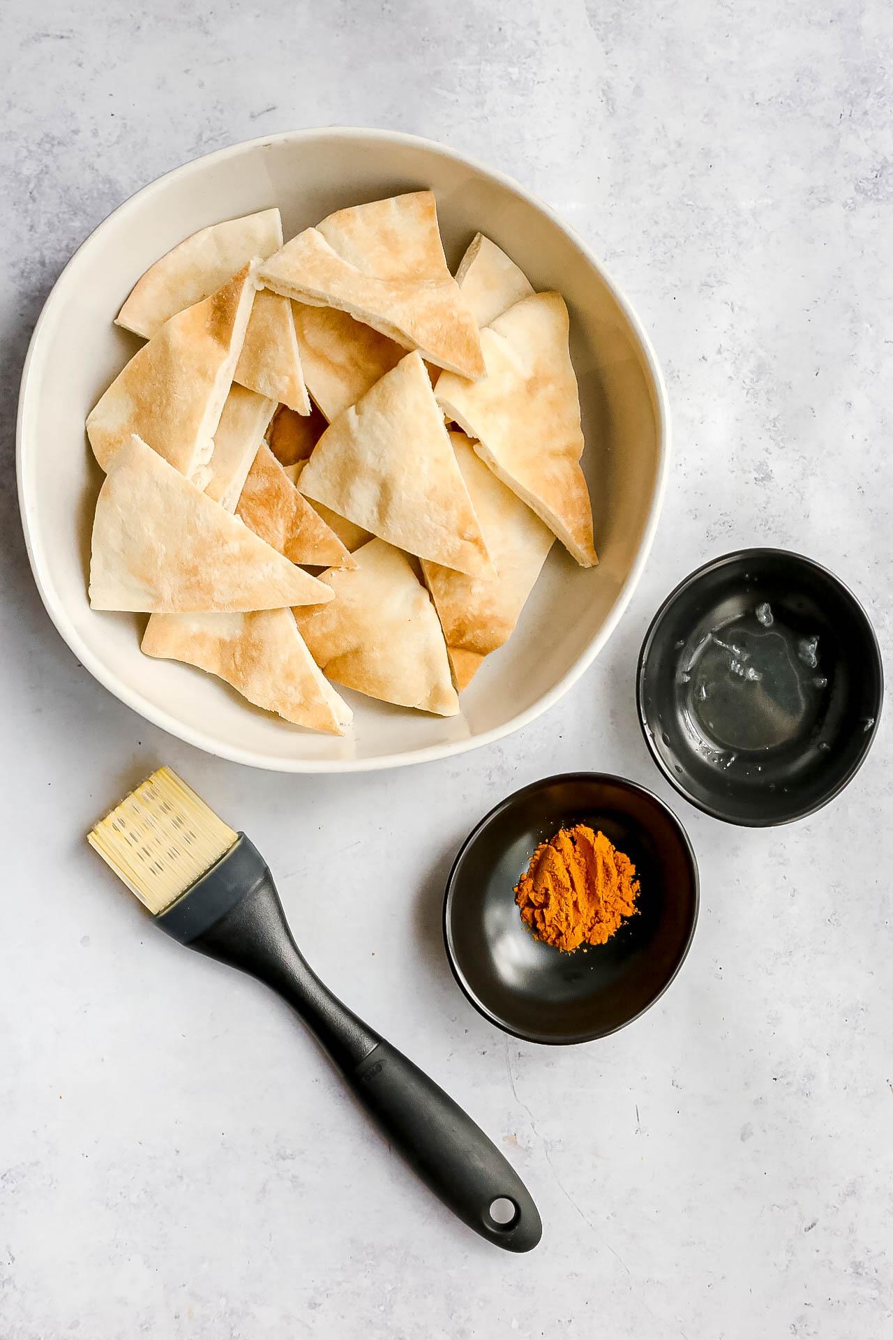 Curried Pita Chips Ingredients