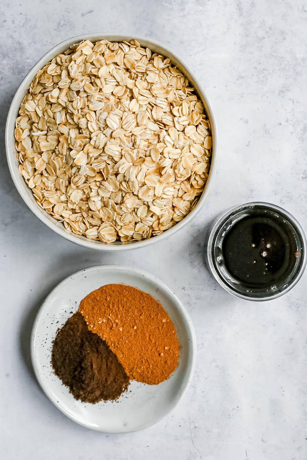 Vegan Pumpkin Spice Latte Granola Ingredients