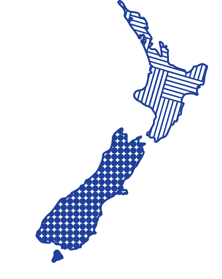New Zealand map with locations