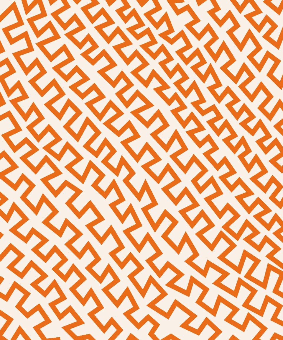 An orange and cream zig-zagging pattern.