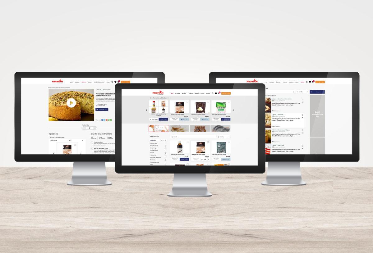 The online interface of Redman's new website