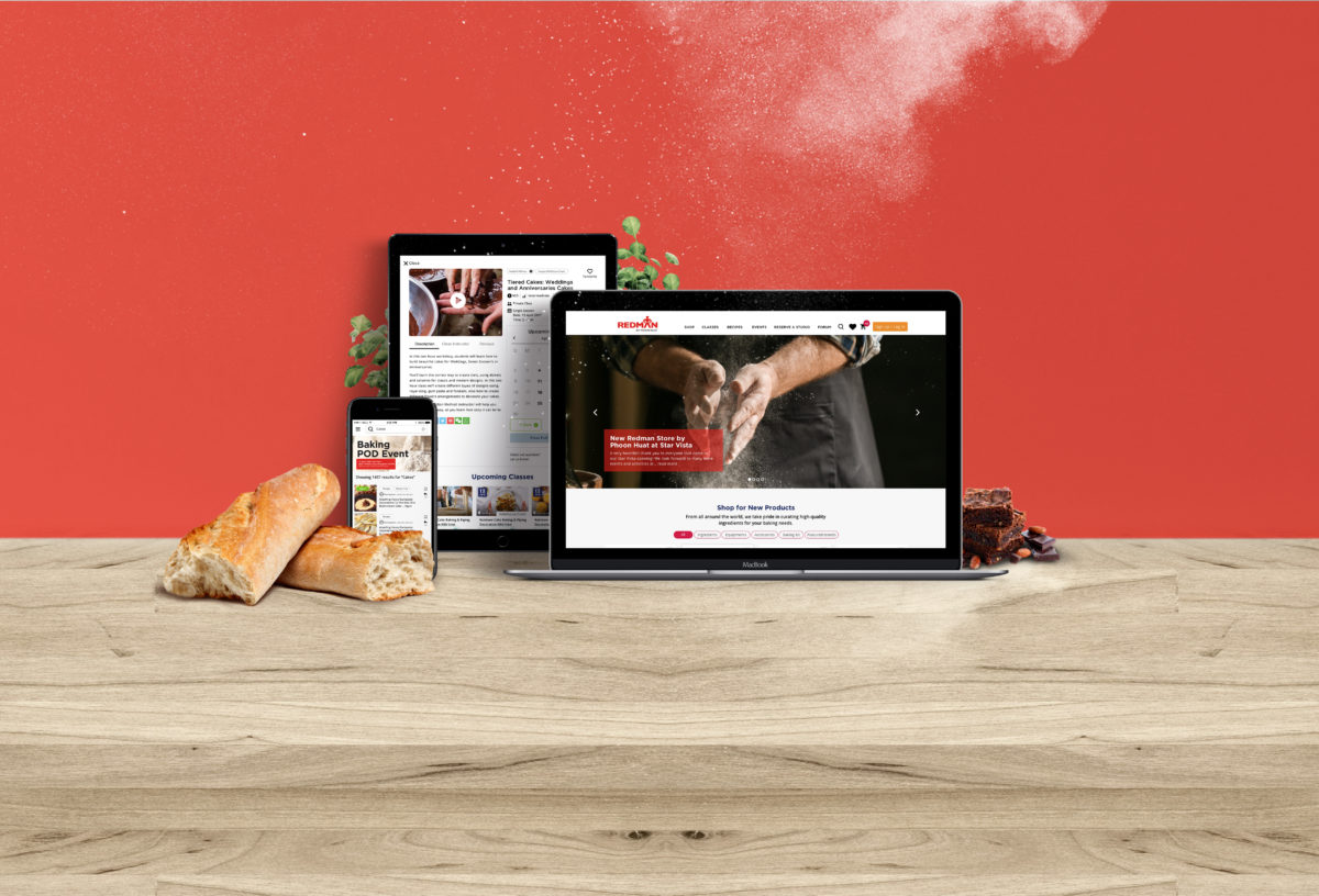 Chemistry Team designed both the digital platform and retail experience for Redman, Phoon Huat.