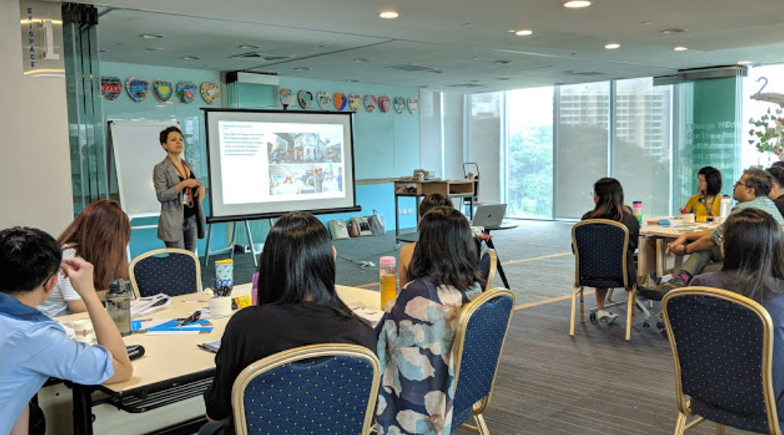 Karin teaches a course on design thinking