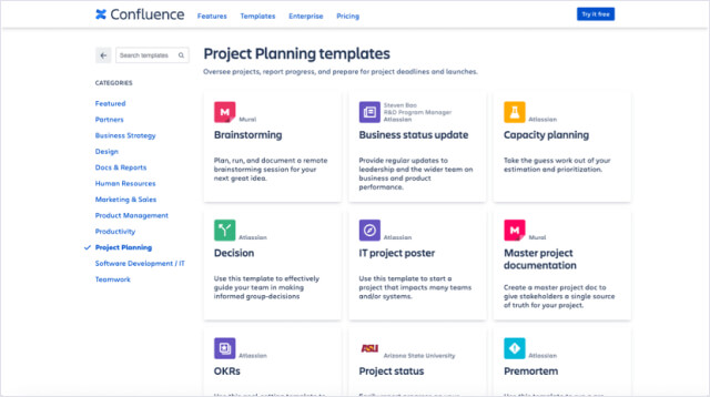 Meeting Templates for Confluence img