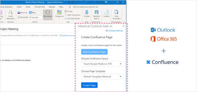 Outlook Add-in for Confluence img