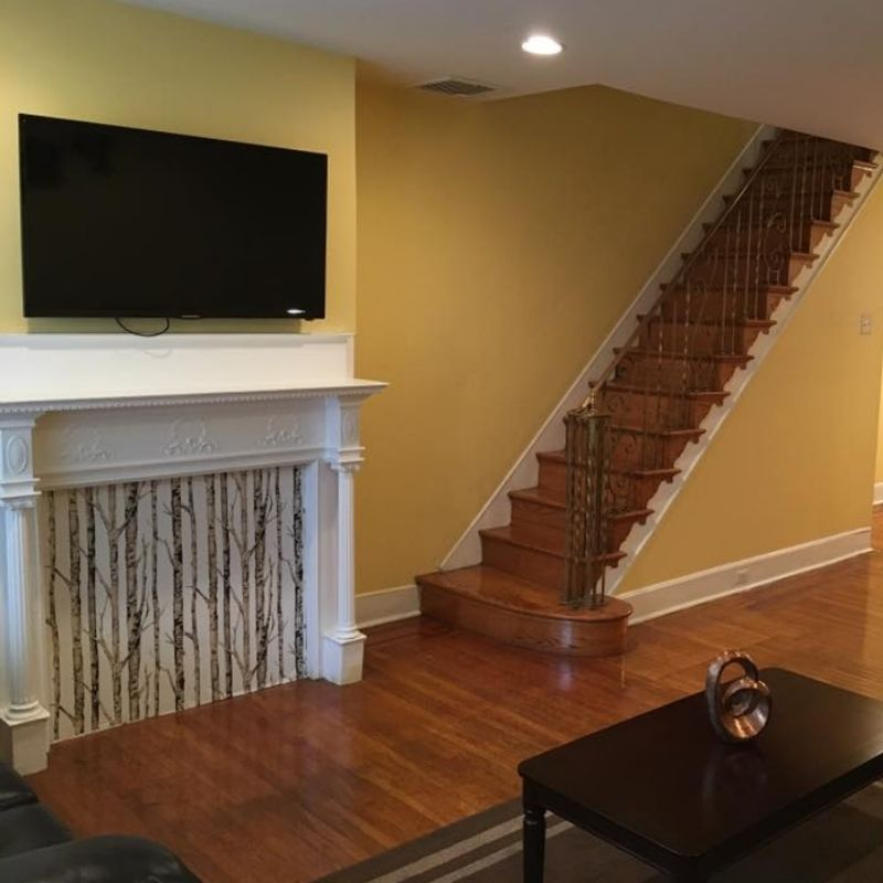 Sober Living Entryway 2 with mantel