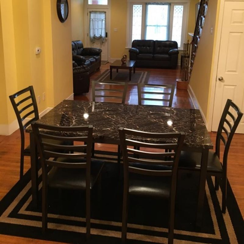 Sober Living House Dining Room 1