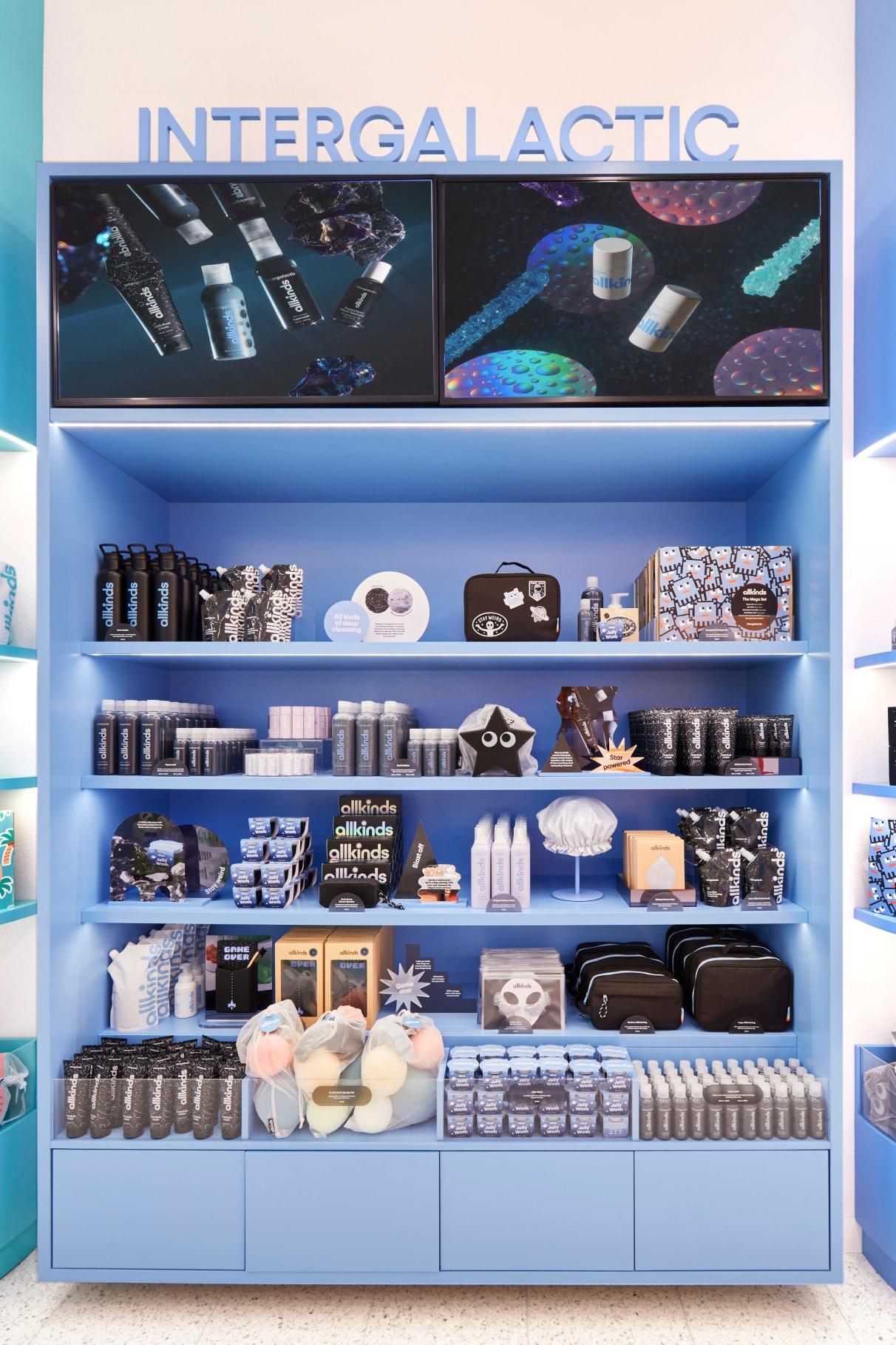 Allkinds Intergalactic world display shelves