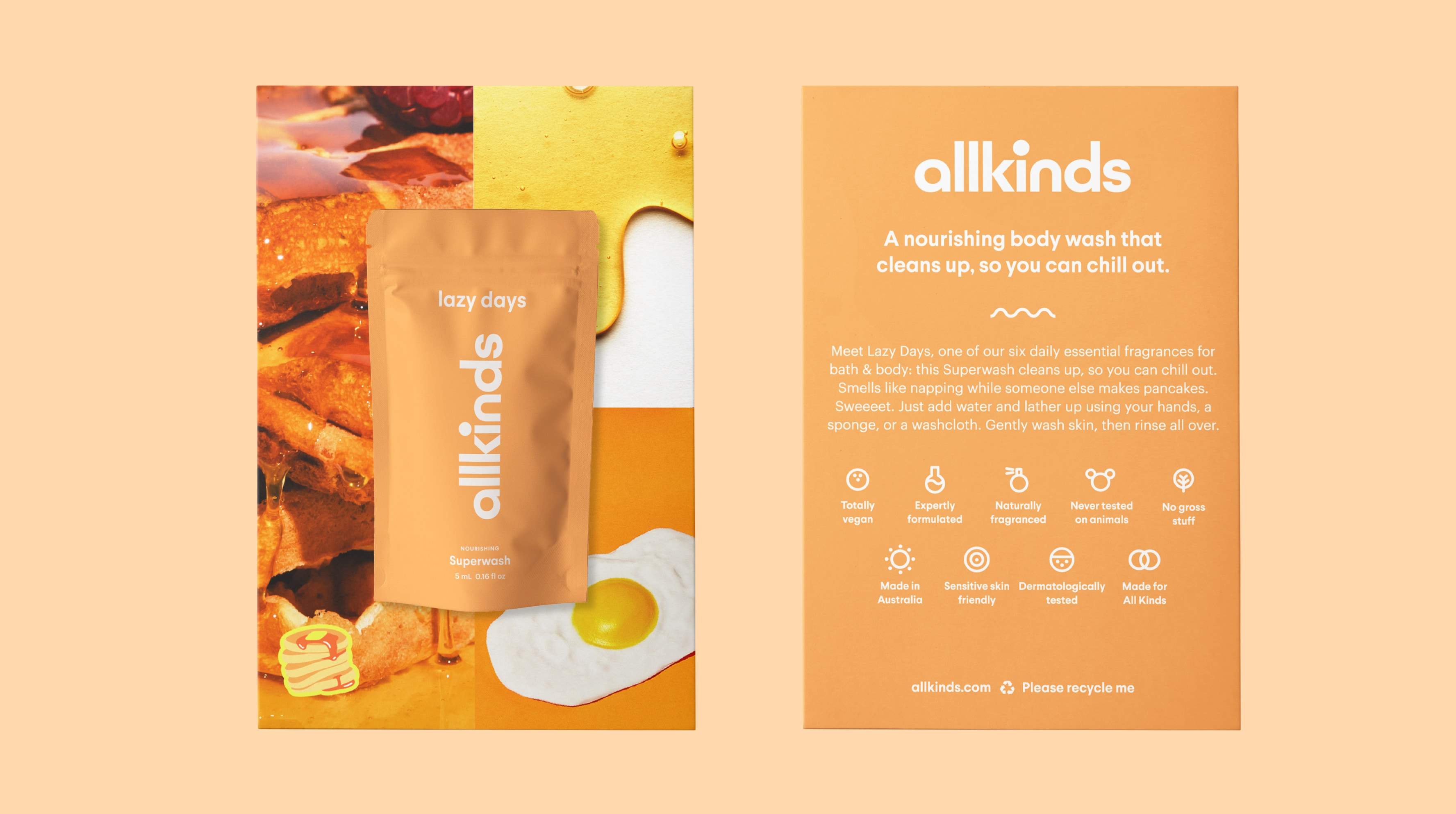 Allkinds Lazy Days Superwash sample and sampling card packaging for retail distribution