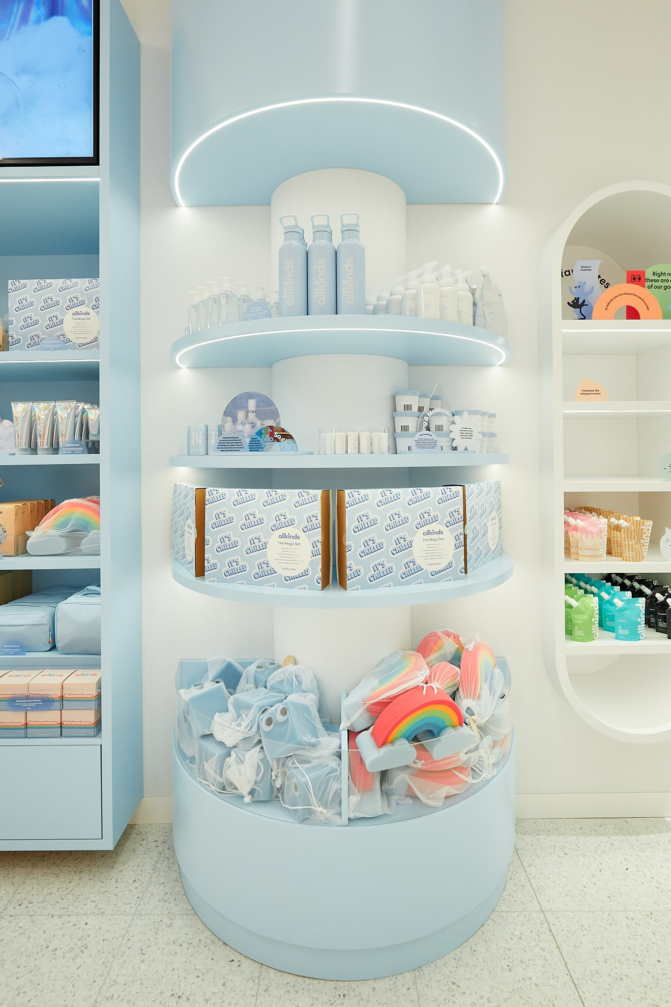 Allkinds Totally Clear world display shelves with sets