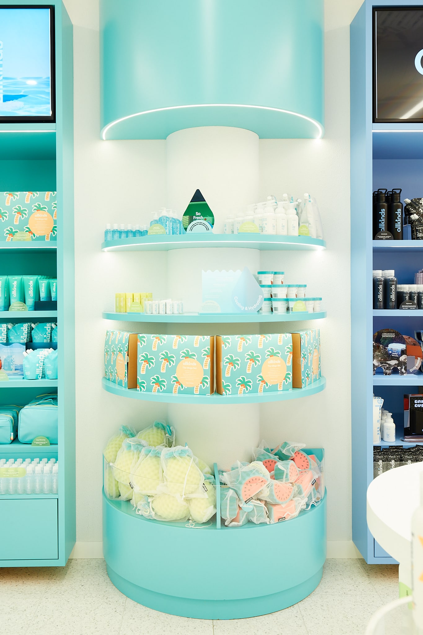 Allkinds Hey Vacay world display shelves with sets