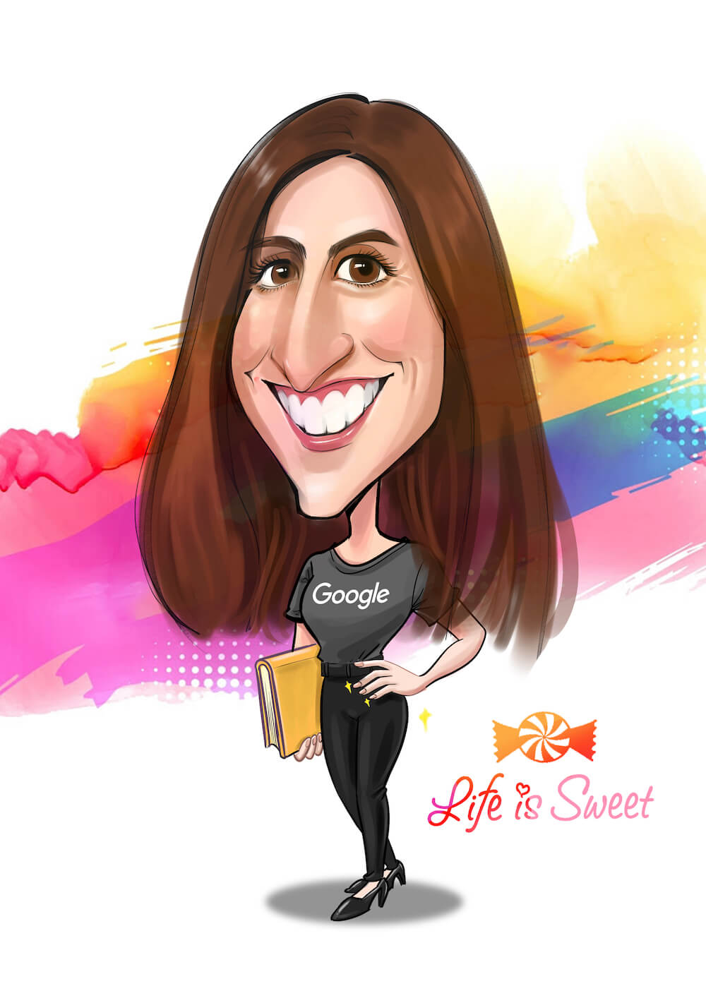 digital color caricature by Sharontangcreation.com