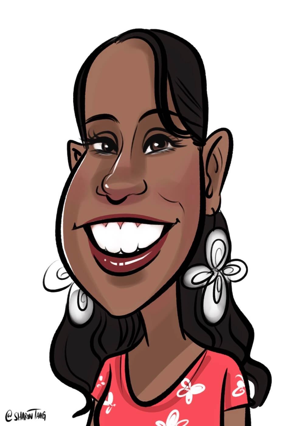 digital caricature by Sharontangcreation.com