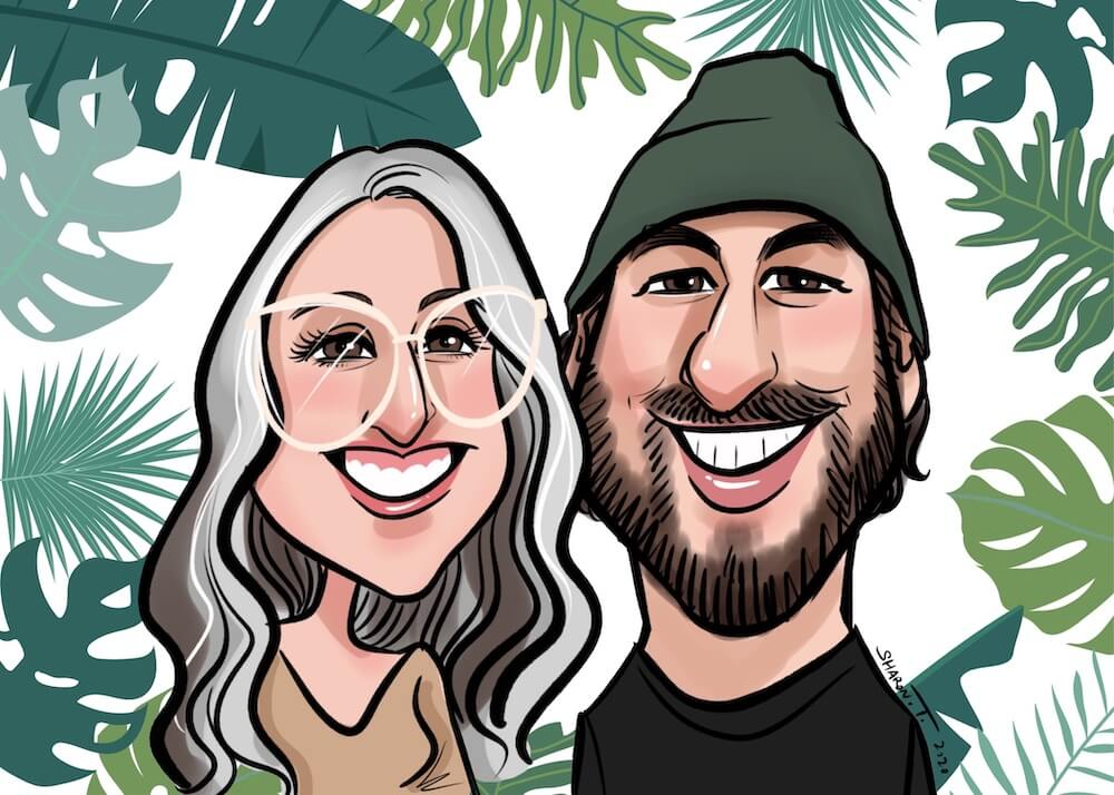 Couple caricature by Sharontangcreation.com