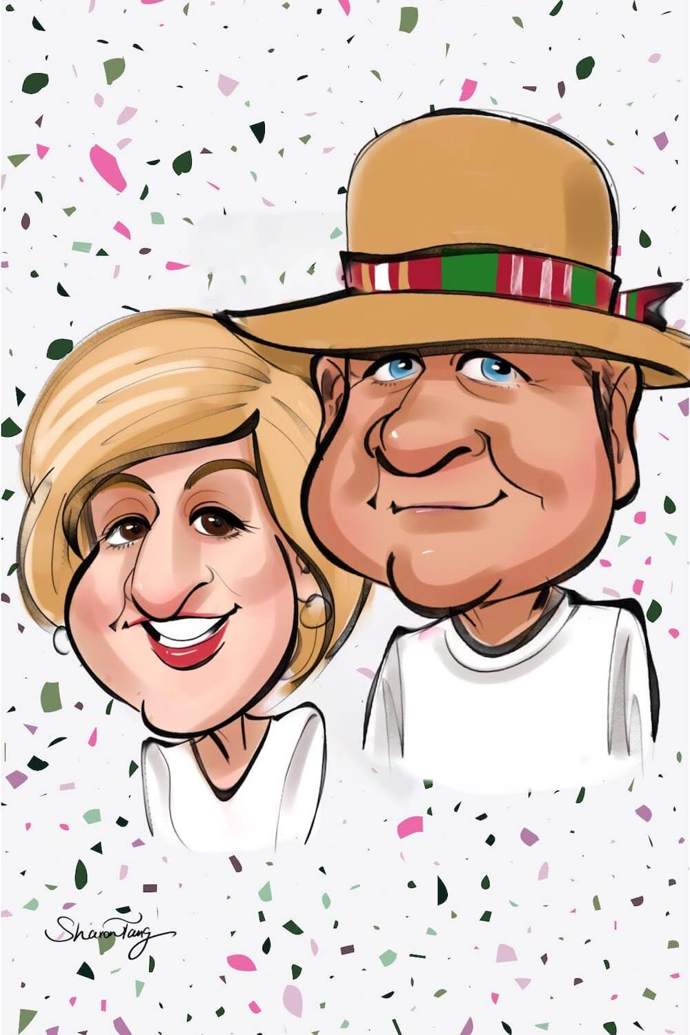 anniversary caricature gift by Sharontangcreation.comanniversary caricature gift by Sharontangcreation.com