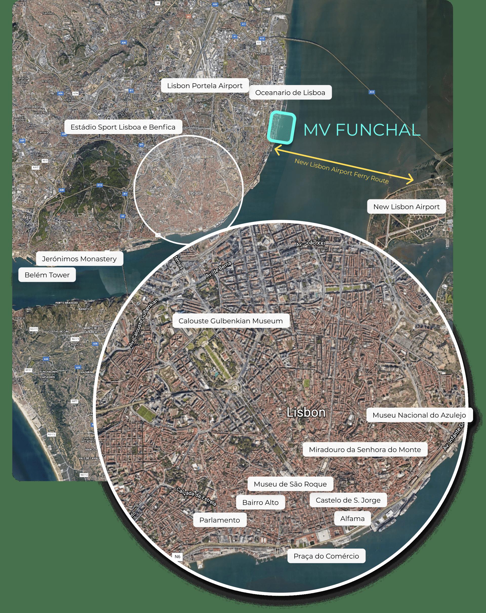 Map of Lisbon