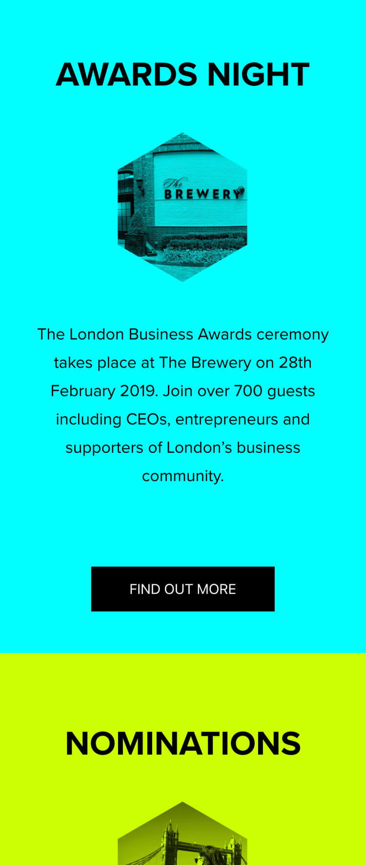 Screenshot of the website