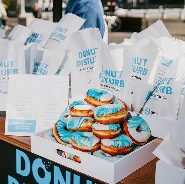 TAC Donut Disturb - brand activation - Woofys