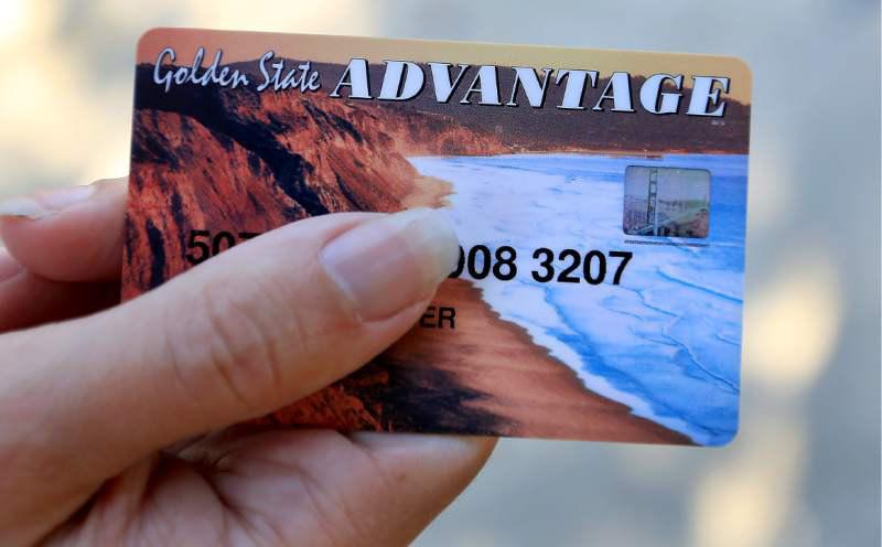 An example of California's EBT Card