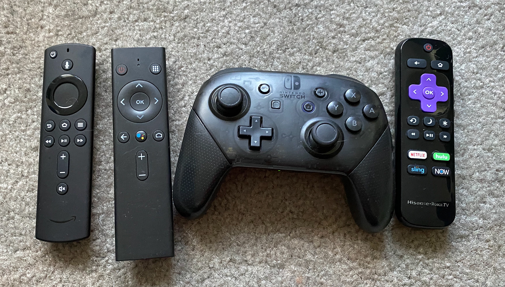 Different remotes for different consoles.