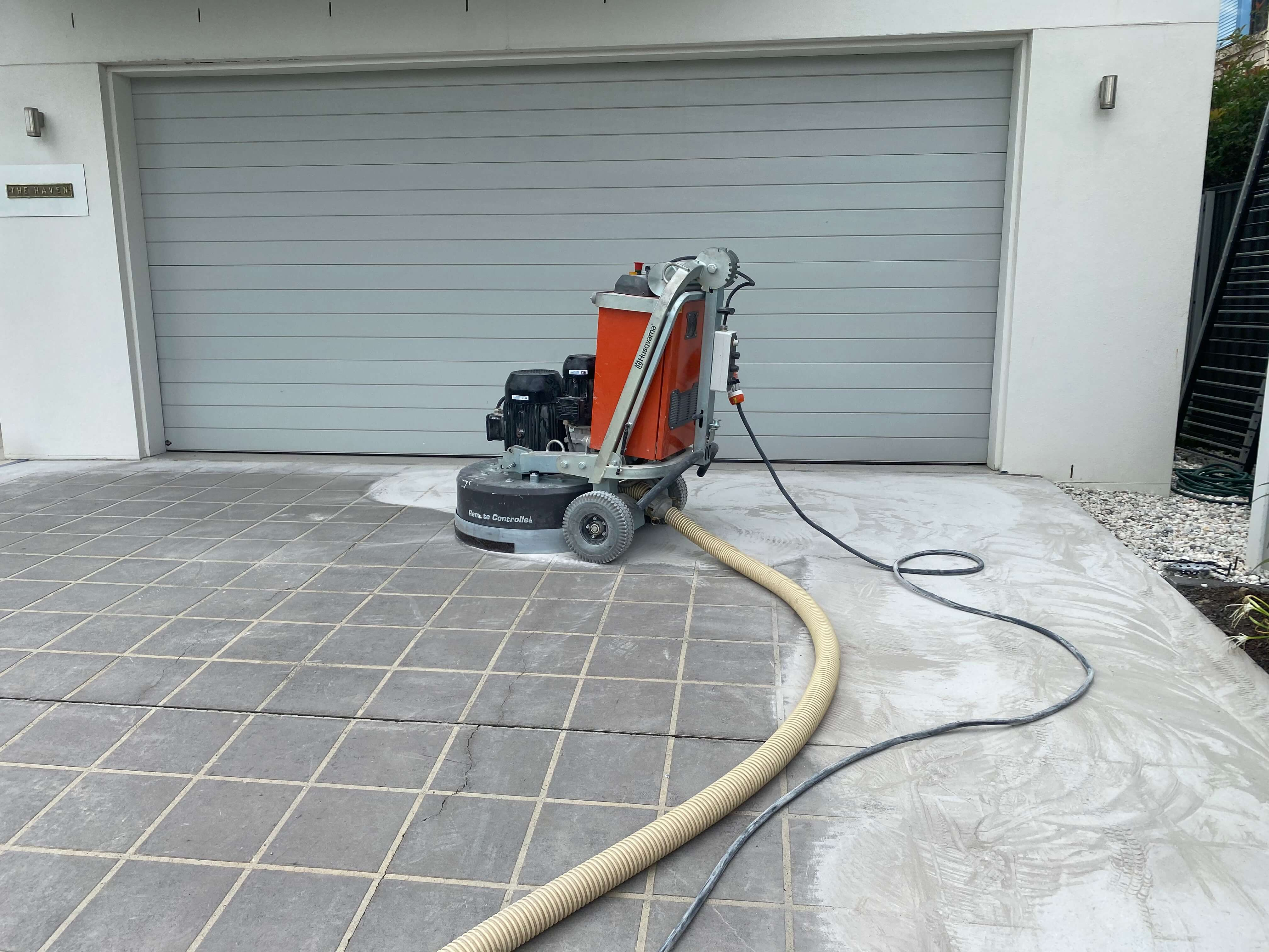 Driveway Coating Grinding and Removal