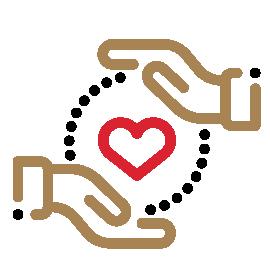 Stewardship hands grab heart