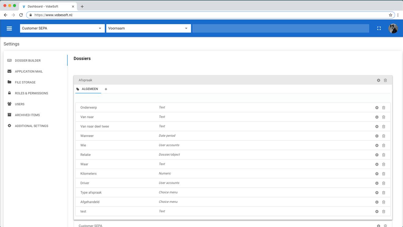 VobeSoft-Plattform Dossiererstellung