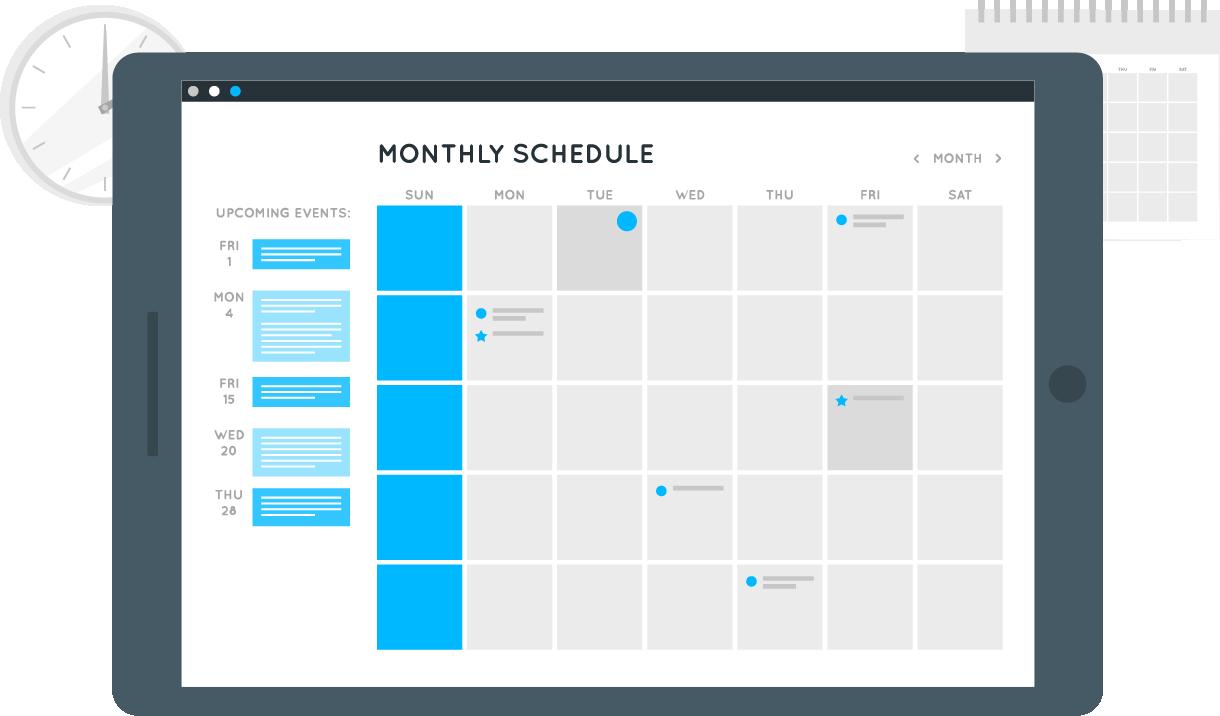 VobeSoft platform agenda illustration