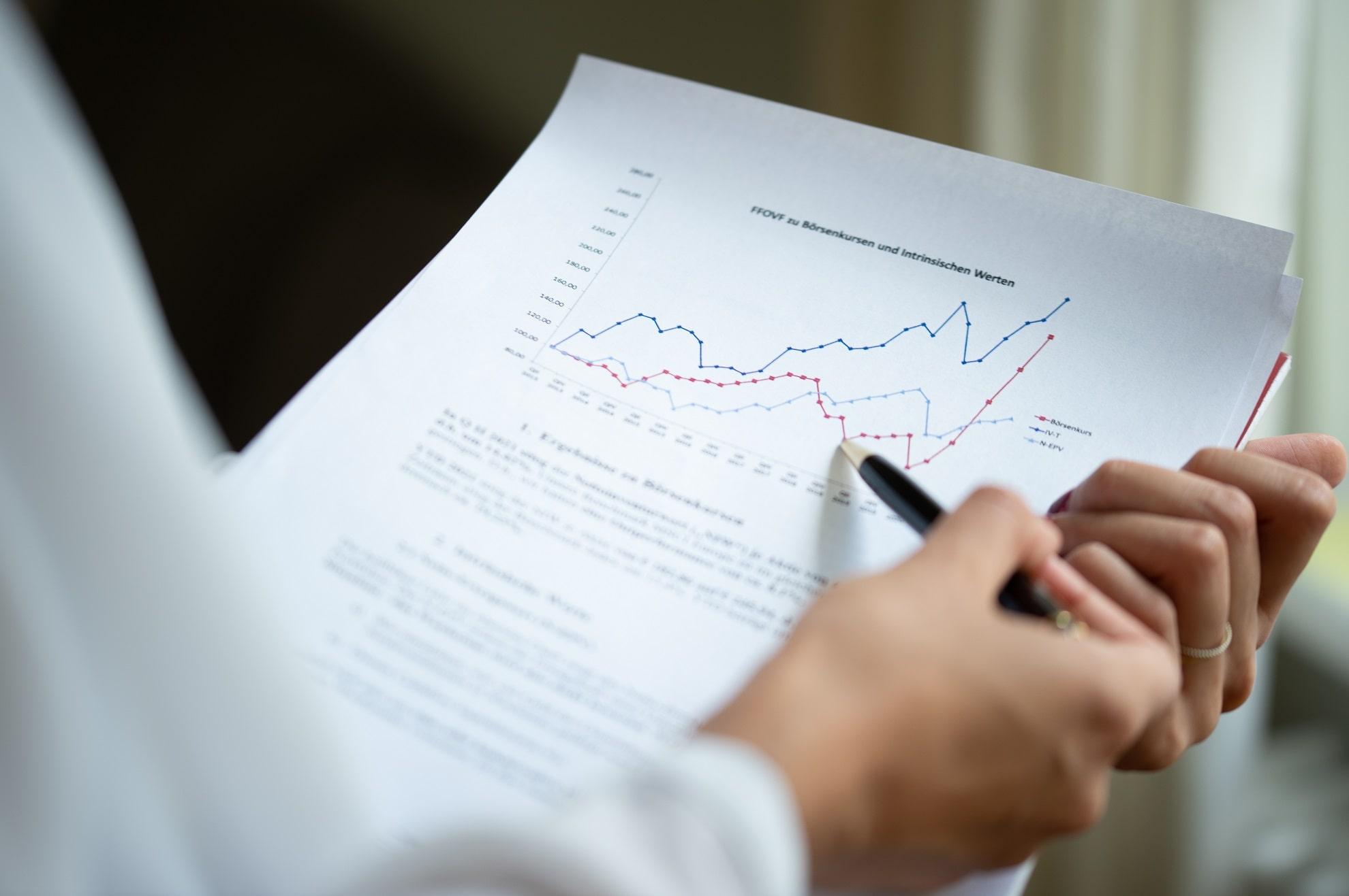 Forum Value Investing Mitarbeiter beim Auswerten von Forums Performance