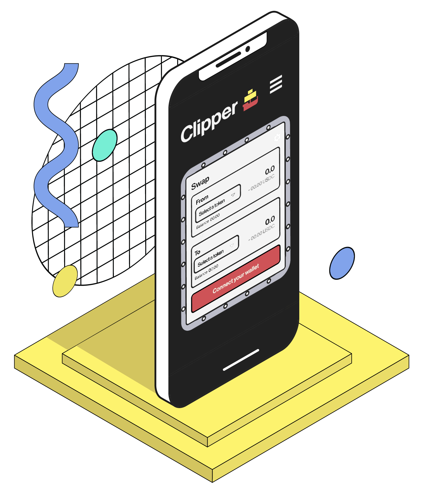 The clipper app opened on a cell phone