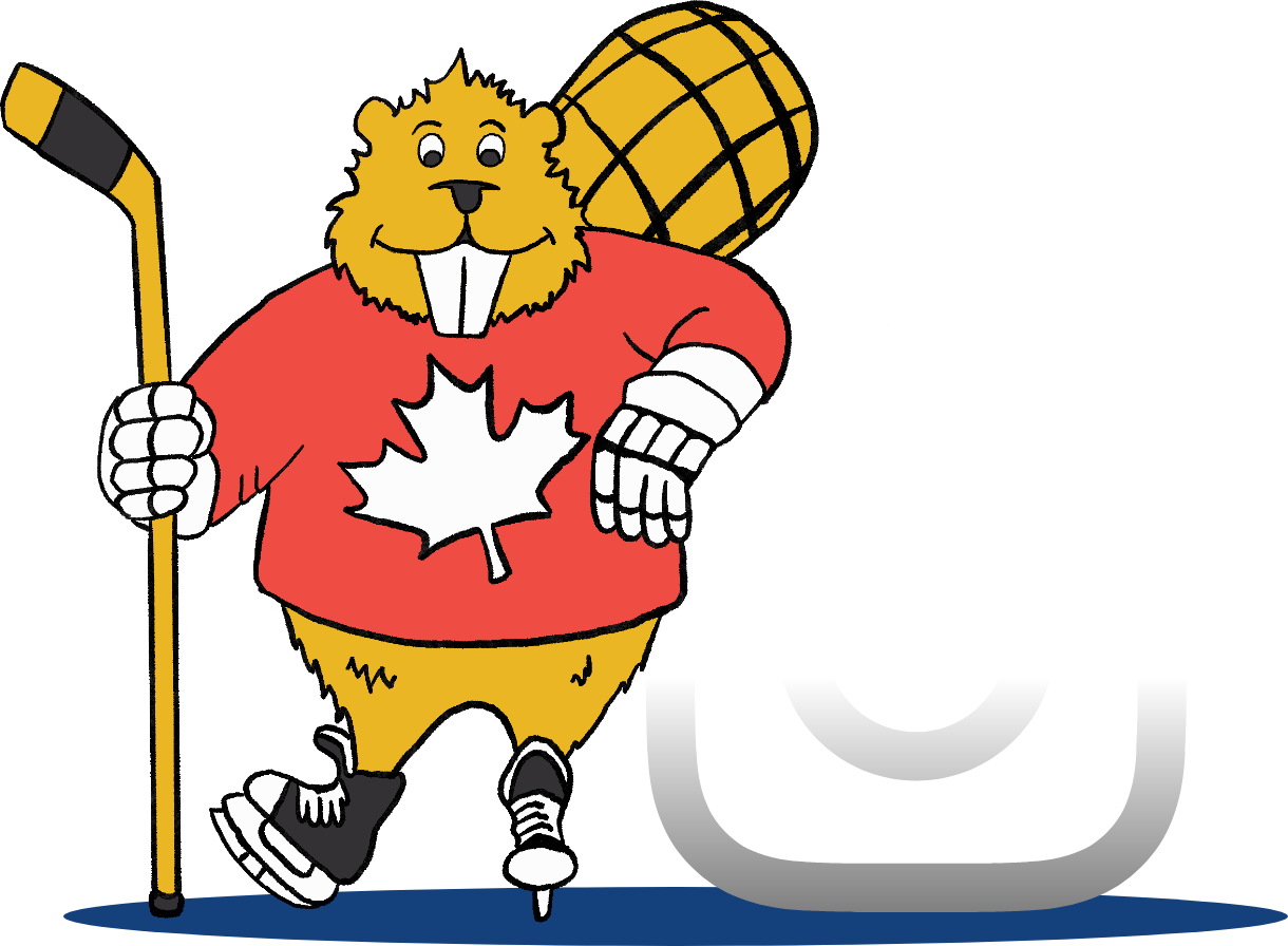 Ralph the beaver and the instagram logo