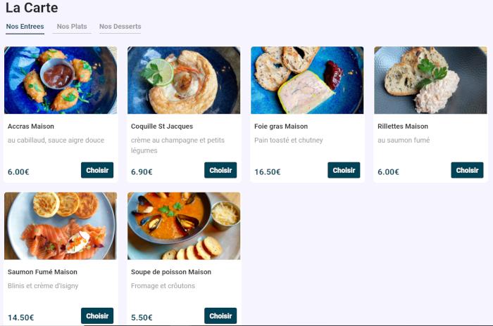 Commande en ligne restaurant