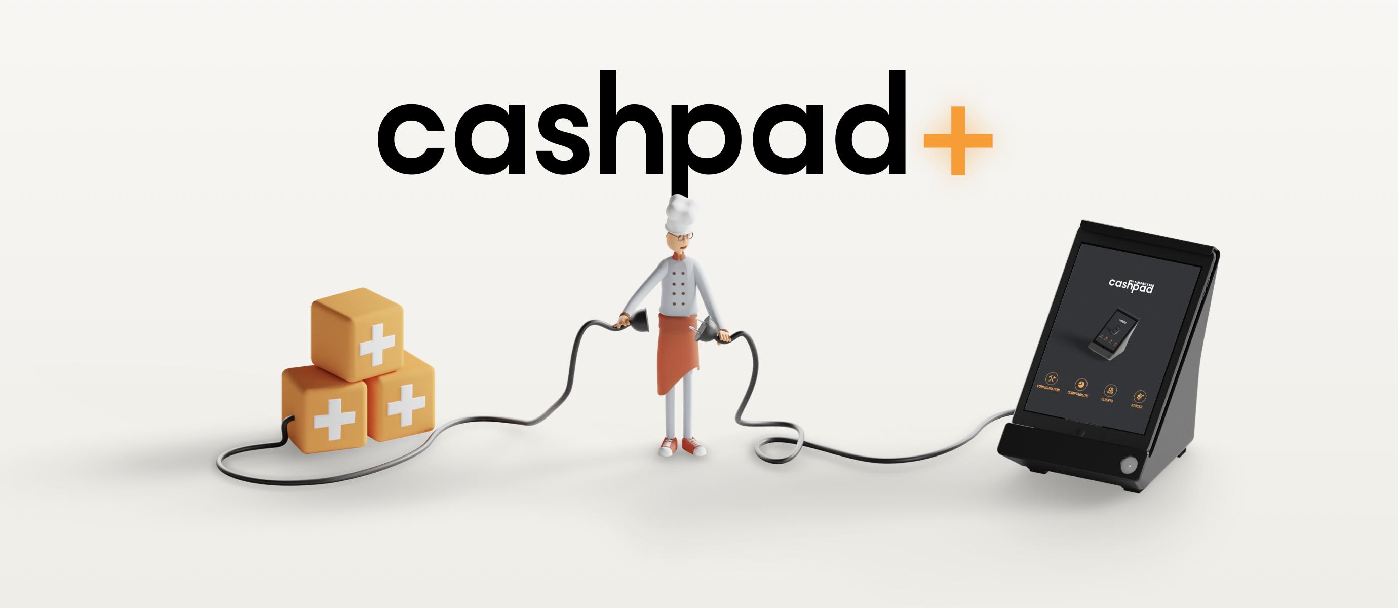 Après des mois de travail nous sommes heureux d'annoncer Cashpad +. Un plus à l'offre Cashpad, une brique supplémentaire importante qui répond aux nouveaux enjeux de votre établissement. Le monde de la restauration évolue, et nous faisons évoluer notre système de Caisse avec l'air du temps.