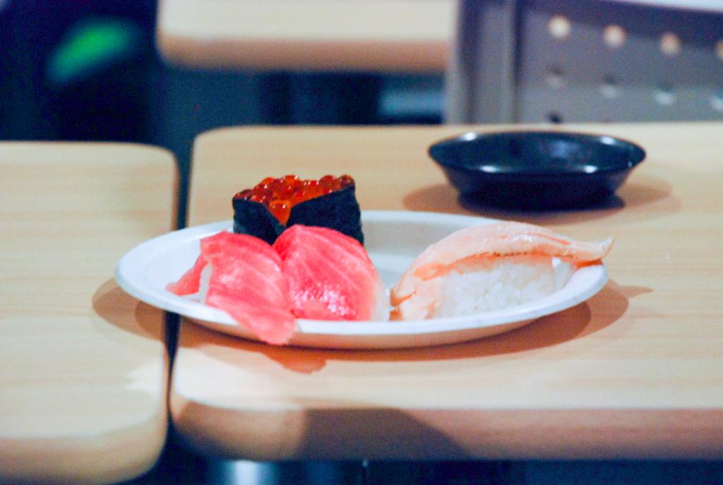 用意されていたお寿司