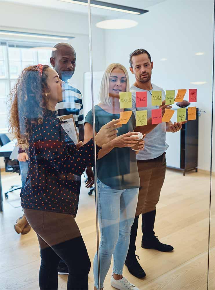 Digital marketing strategy team