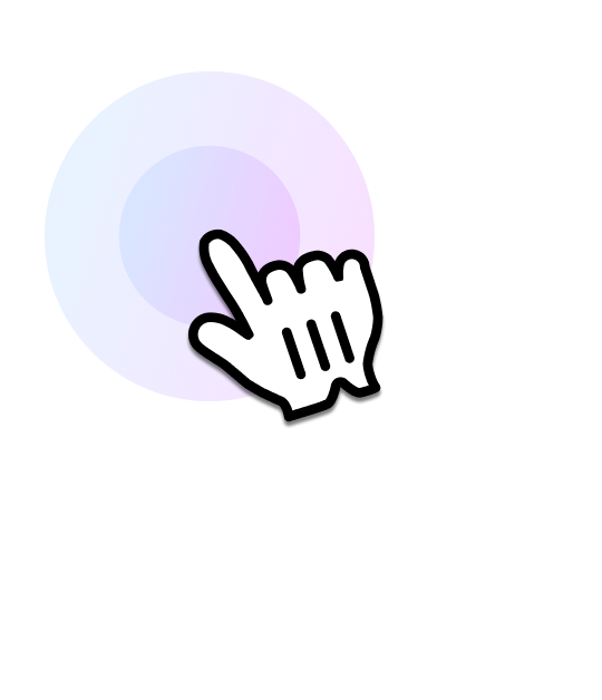A hand is pointing screen