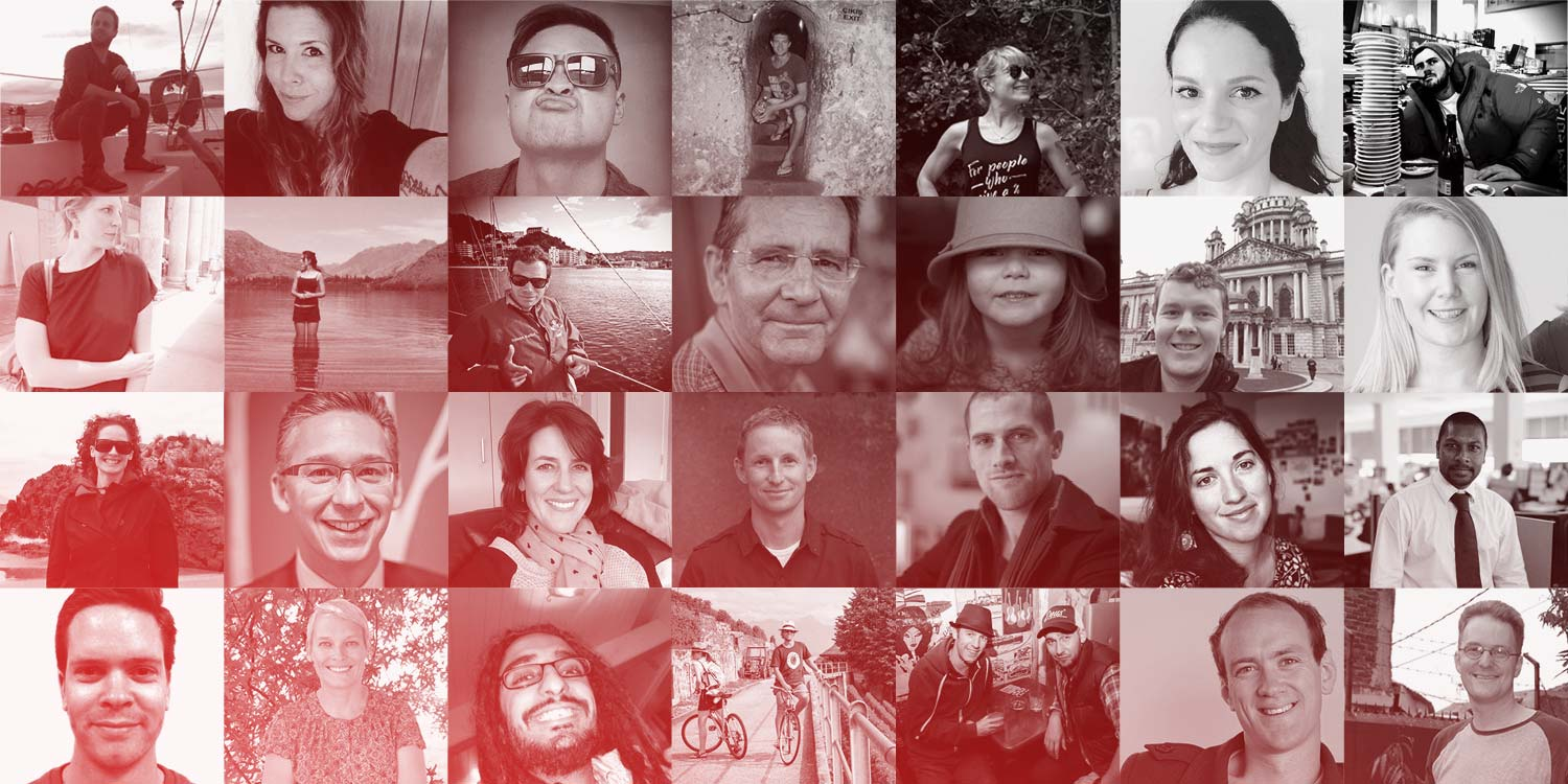 Faces of many of our Future 50 donors