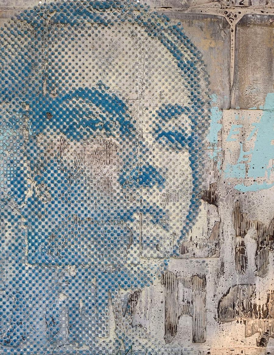 Grey Blue – Belief | 2020, 130x150cm