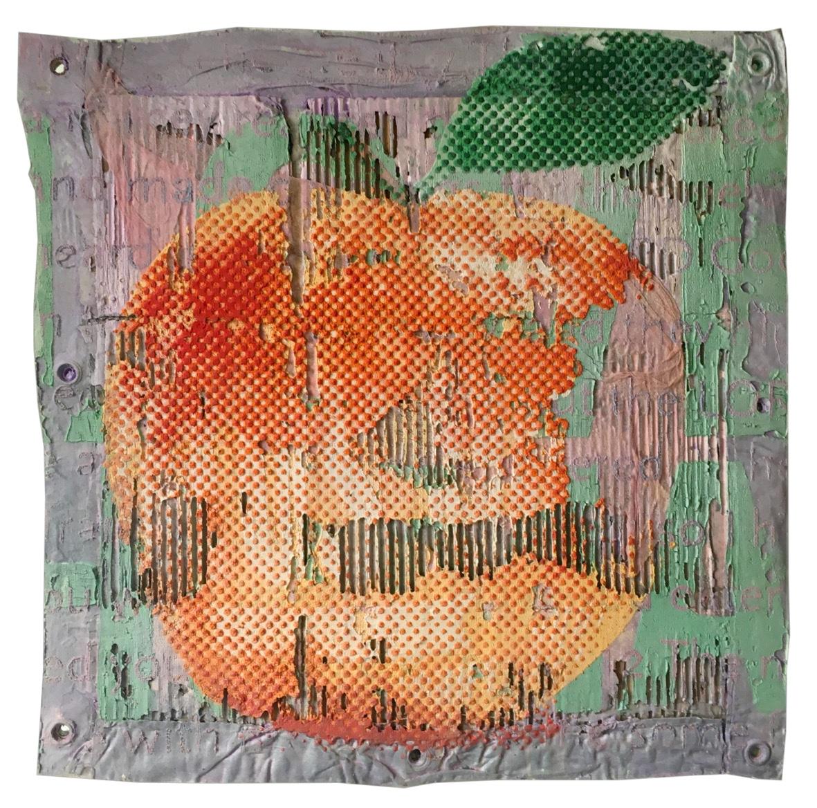 The orange forbidden fruit – apple   2019, 50x50cm