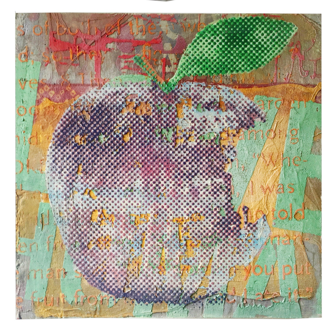The violett forbidden fruit – apple   2019, 50x50cm