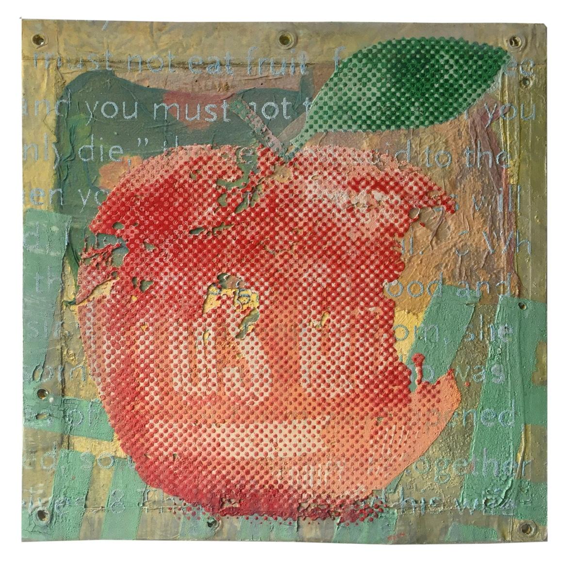 The red forbidden fruit – apple   2019, 50x50cm