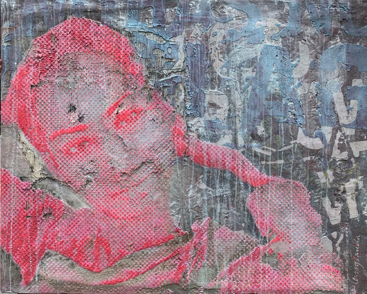 Pink Glamour (Indira) | 2021, 115x140cm