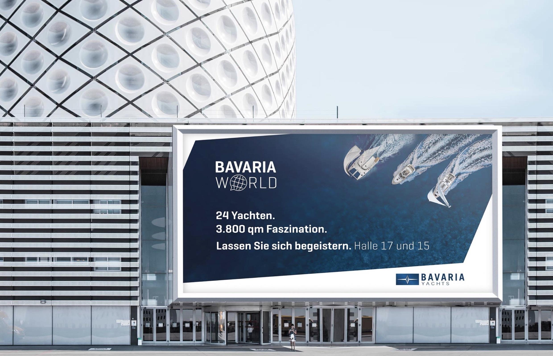 Bavaria Yachts – Messebanner Bavaria World Düsseldorf