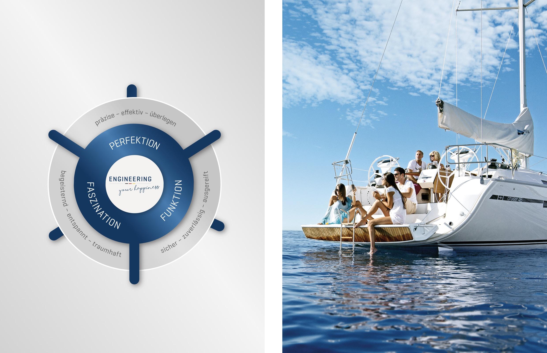 Bavaria Yachts – Brand Steering Wheel mit Impression