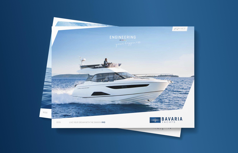 Bavaria Yachts – neues Katalogdesign mit Gestaltungsprinzip